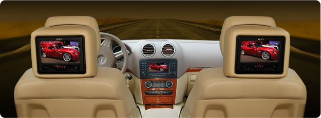 Interior of luxurious car